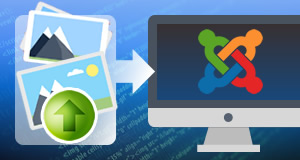 Digital asset upload/update on Joomla